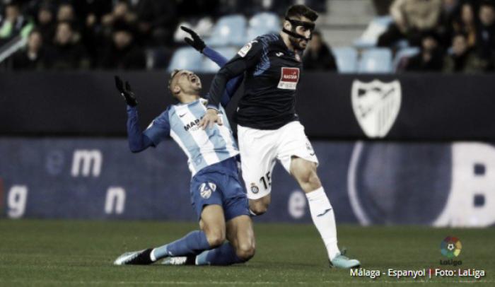 Puntuaciones Málaga - Espanyol, jornada 18 La Liga Santander