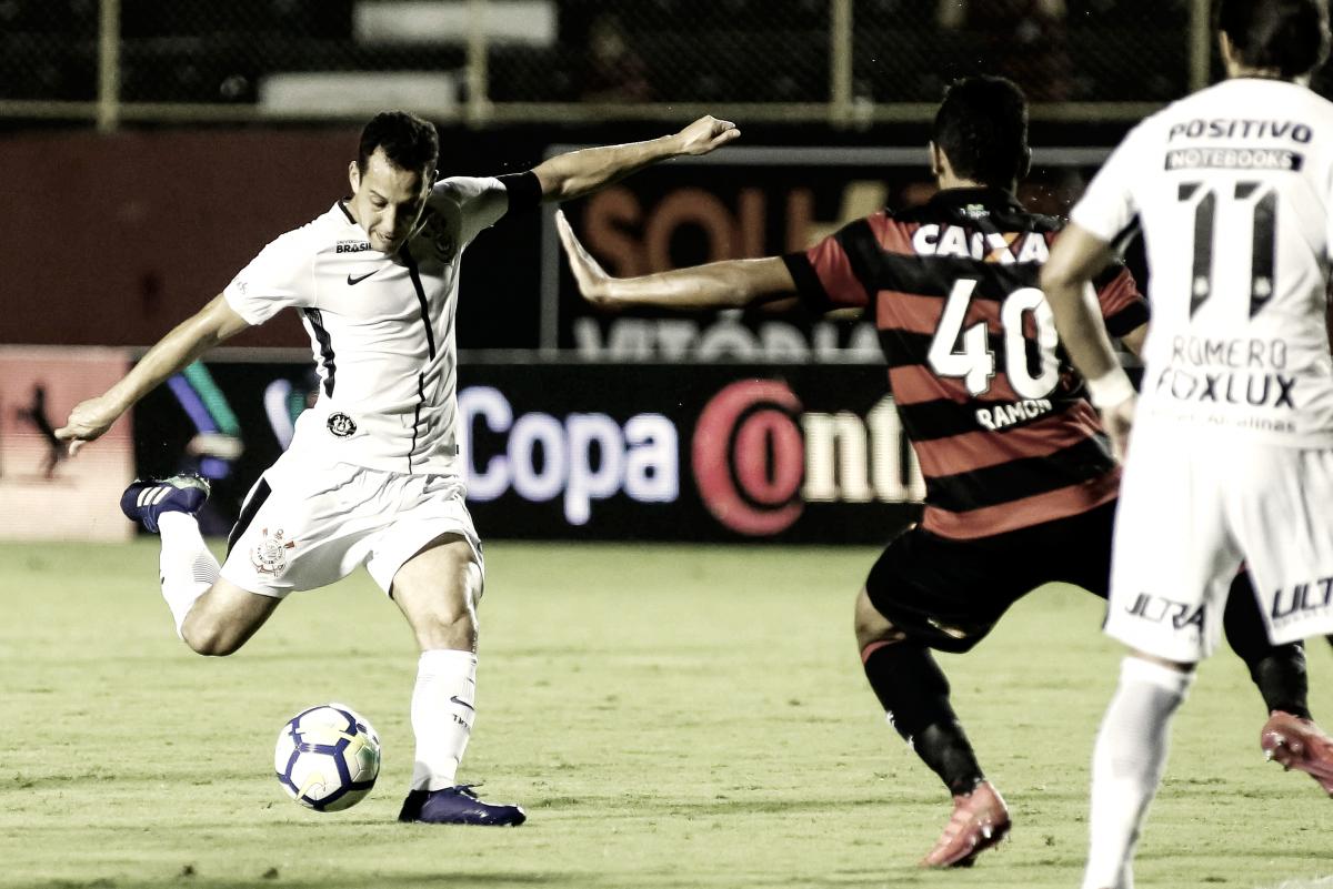Após empate sem gols, Corinthians e Vitória disputam vaga para as quartas da Copa do Brasil