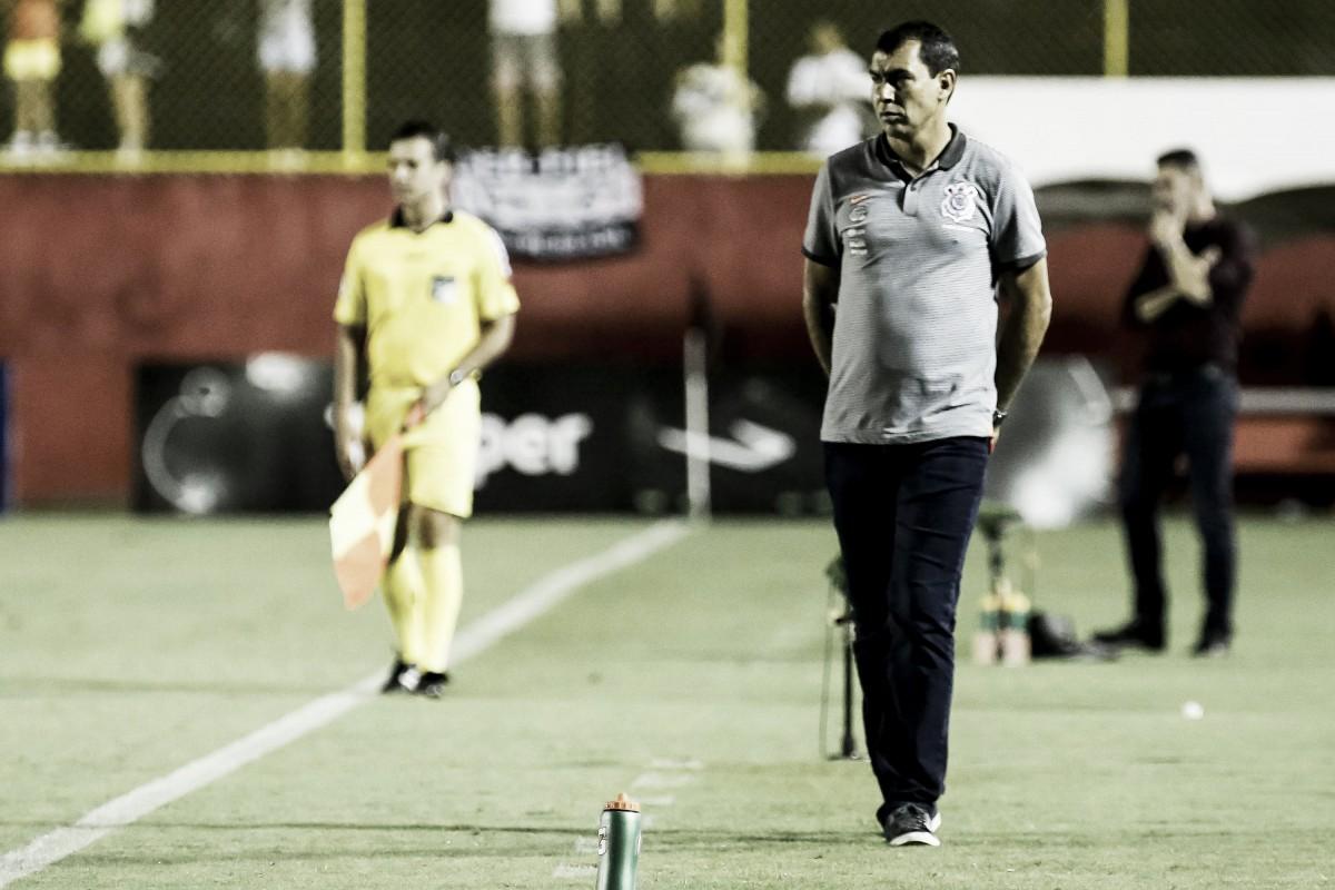 """Após empate sem gols diante do Vitória, Carille declara: """"Talvez tenha faltado uma referência"""""""