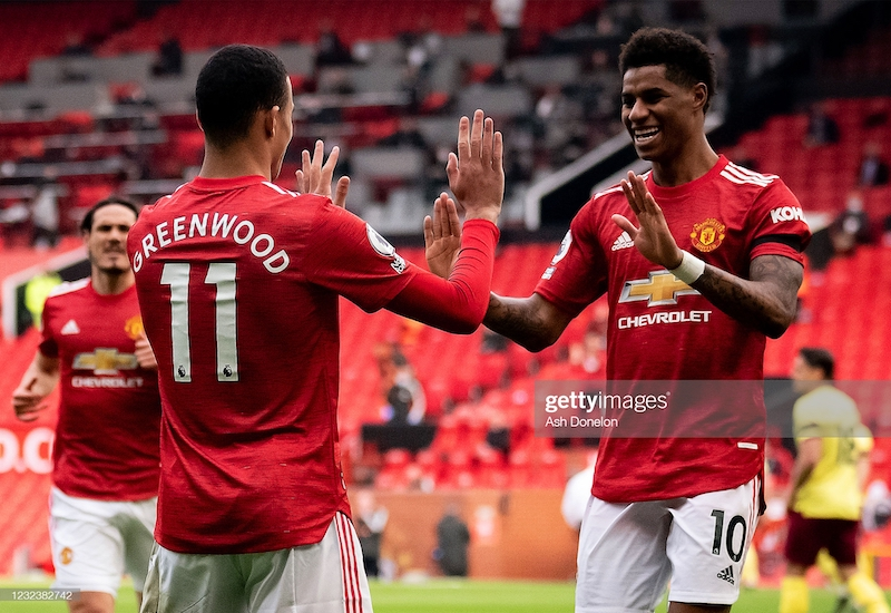 Manchester United 3-1 Burnley: Greenwood double gives United home victory