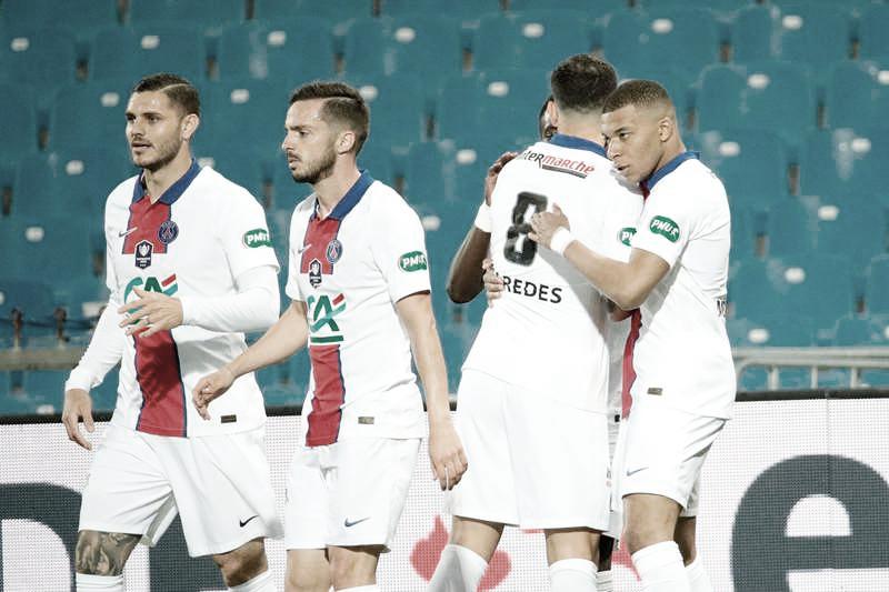 Montpellier busca empate duas vezes, mas PSG vence nos pênaltis e disputará final da Copa da França