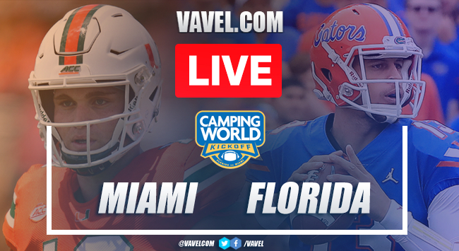 Miami Hurricanes 6-7 Florida Gators: Live Stream and Score Updates