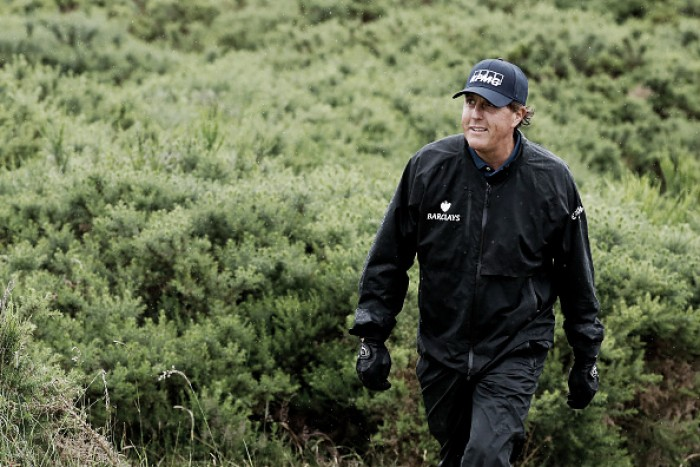 The Open: Mickelson lead cut as chasing pack close in at Royal Troon