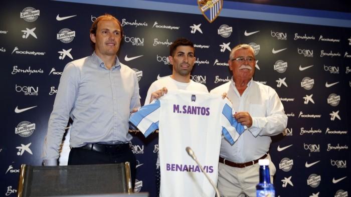 Michael Santos disfrutó de su primer día en el Málaga