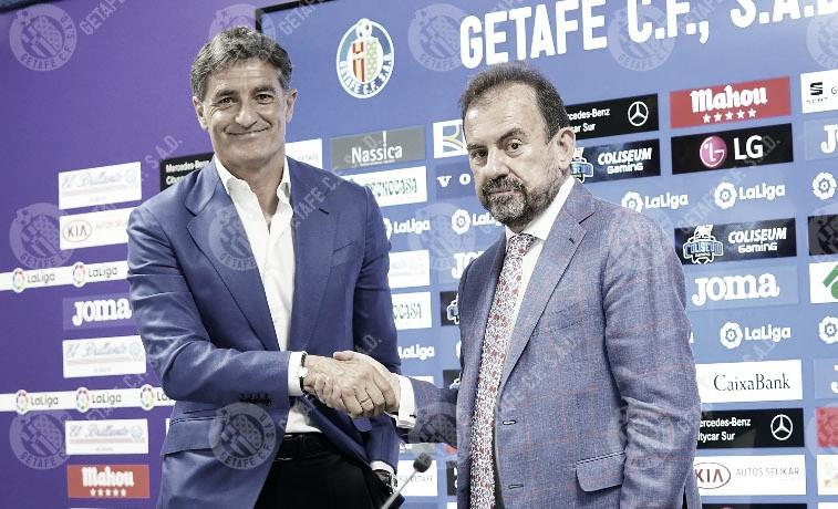 Presentación de Míchel como entrenador del Getafe CF
