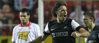 Liga BBVA española: Gol de Demichelis en la victoria del Málaga