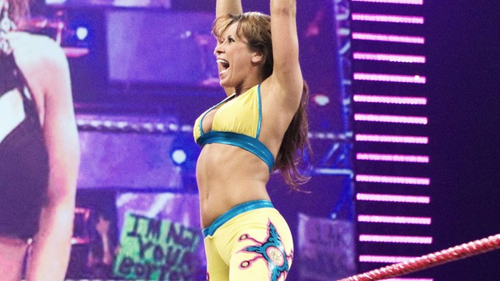 Was Trish Stratus originally lined up before Mickie James?