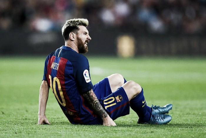 Lesão muscular afasta Lionel Messi do Barcelona por três semanas