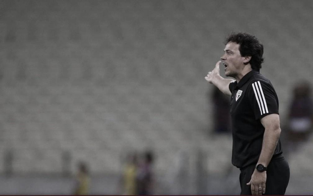 Fernando Diniz em Fortaleza 2 a 3 São Paulo (Miguel Schincariol/São Paulo FC/Divulgação)