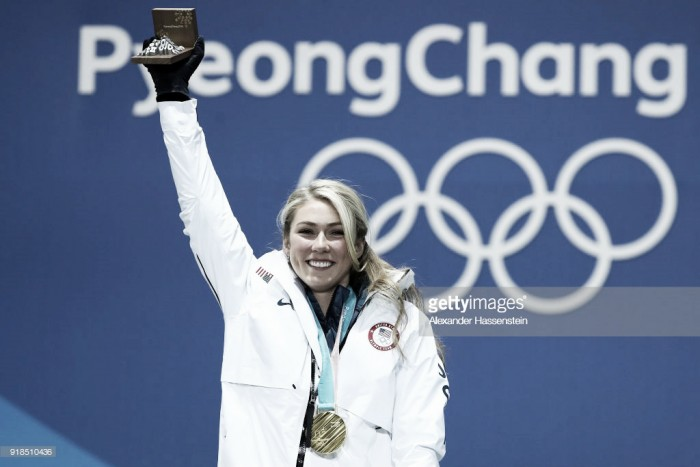Pyeonchang 2018: Mikaela Shiffrin claims first gold of Olympics with giant slalom win