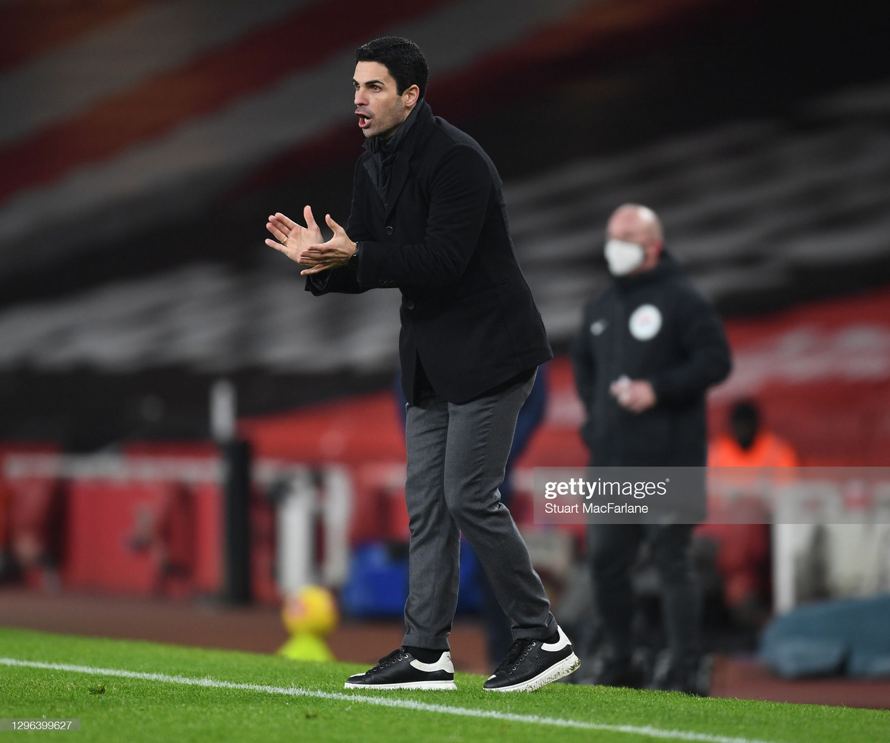 LONDON, ENGLAND - JANUARY 14: Arsenal manager Mikel Arteta during the Premier League match between Arsenal and Crystal Palace at Emirates Stadium on January 14, 2021 in London, England. Sporting stadiums around England remain under strict restrictions due to the Coronavirus Pandemic as Government social distancing laws prohibit fans inside venues resulting in games being played behind closed doors. (Photo by Stuart MacFarlane/Arsenal FC via Getty Images)