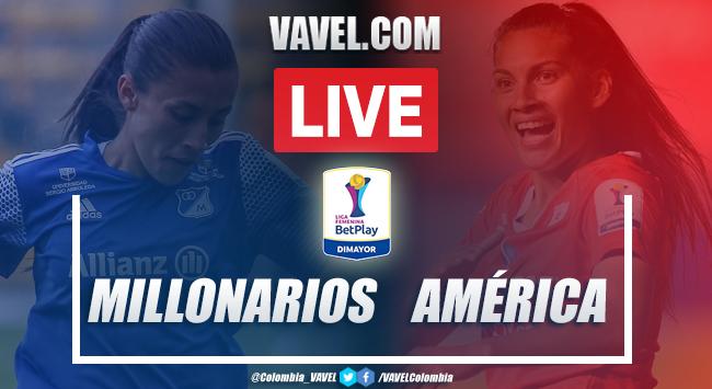 Resumen Millonarios vs América (1-1) por la Liga BetPlay Femenina