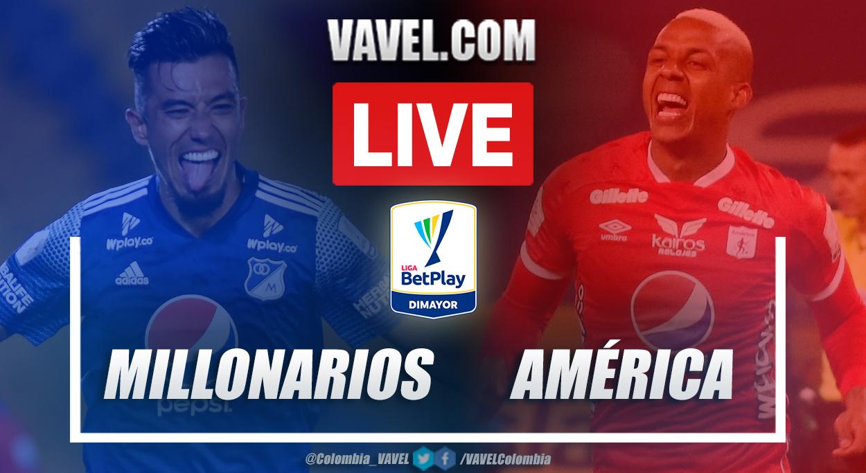 Resumen Millonarios vs América (0-0) en los cuartos de final (vuelta) por Liga BetPlay 2021-I