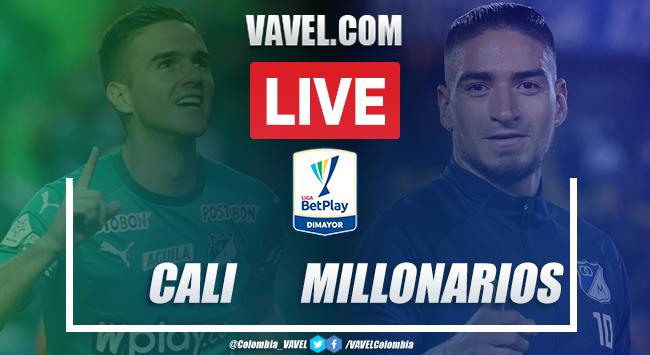 Resumen y goles Cali vs Millonarios (1-1)
