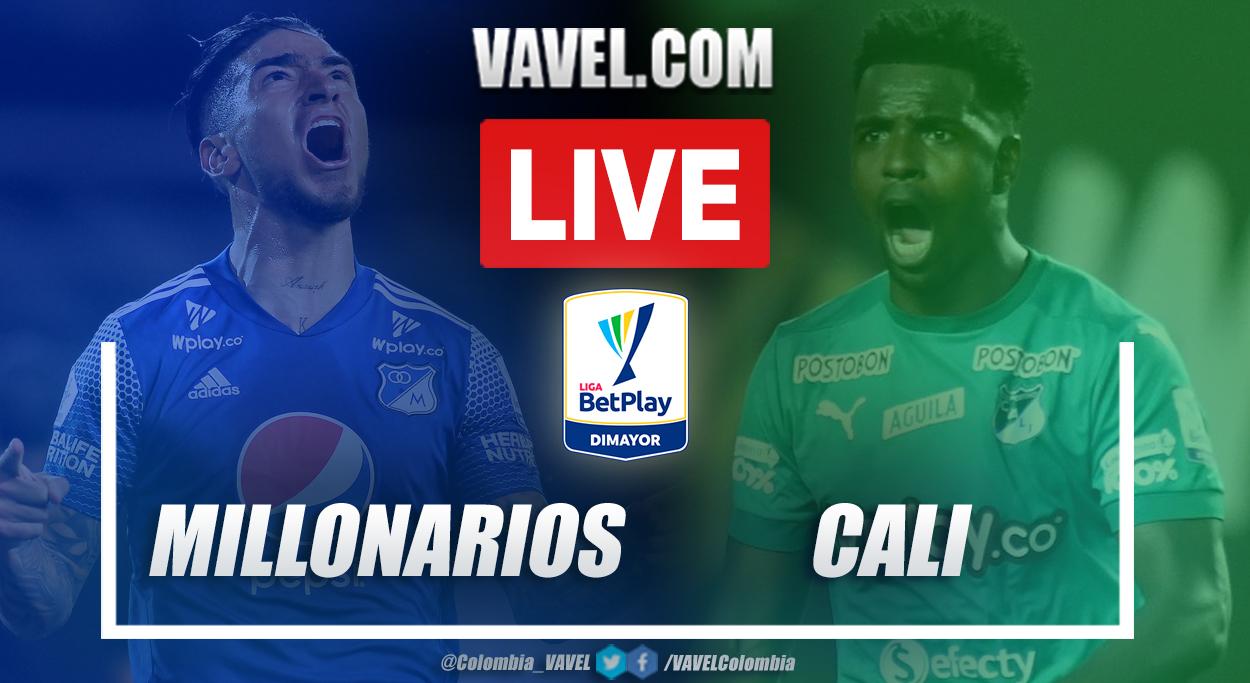 Resumen Millonarios vs Cali (3-1) en la fecha 19 de la Liga BetPlay 2021-I