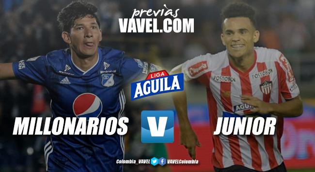 Previa Millonarios vs Junior de Barranquilla: duelo en la parte alta de la tabla