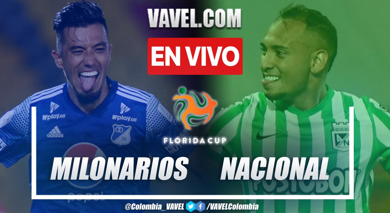 Goles y resumen de Millonarios 2 - 3 Atlético Nacional en Florida Cup 2021