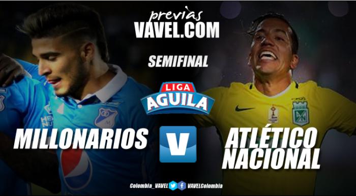 Previa Millonarios Vs Atlético Nacional: Duelo de estrellas por un lugar en la final