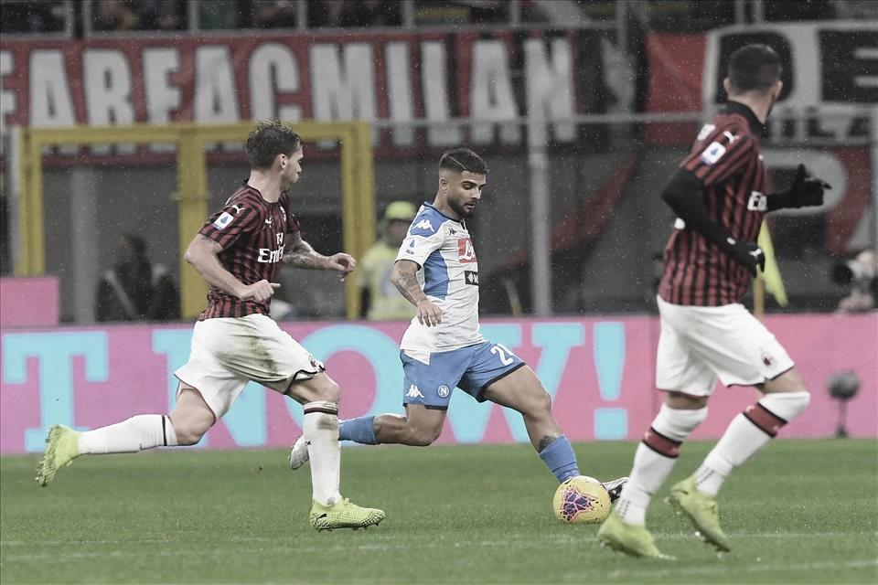 Em confronto de times na zona europeia, Napoli tenta frear evolução do Milan