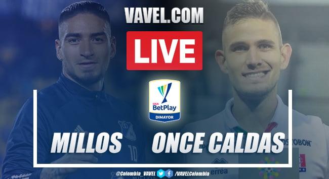 Resumen y goles Millonarios vs Once Caldas en vivo (1-3)