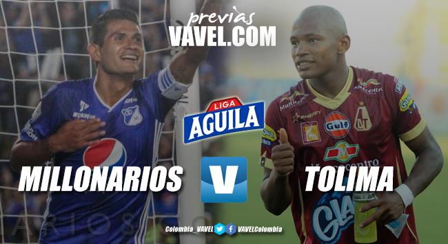 Previa Millonarios vs Deportes Tolima: un choque de punteros