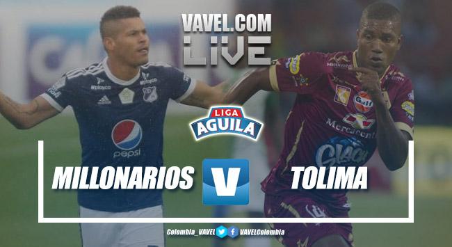 Resultado Millonarios vs Tolima por la Liga Águila 2018-II (1-1)