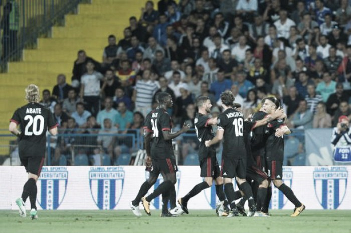 Resultado Milan x Craiova na Uefa Europa League 2017/18 (2-0)