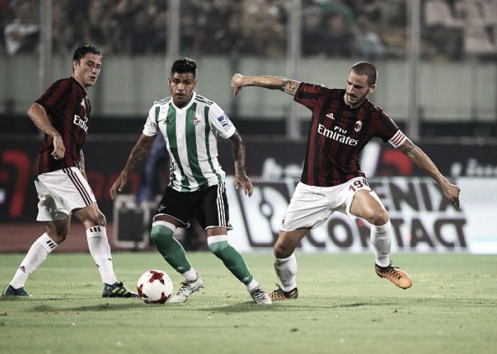 Na estreia de Bonucci como capitão, Milan perde para Bétis com 'ajuda' da tecnologia VAR