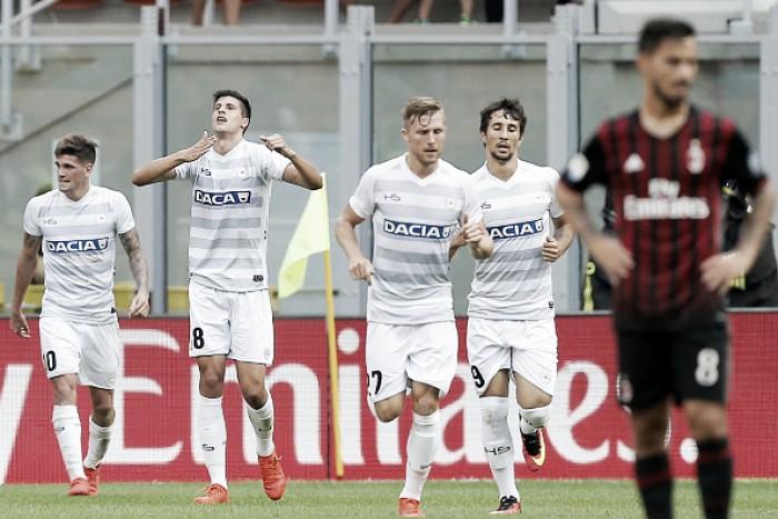 Com atuação ruim, Milan perde em casa para Udinese na Serie A