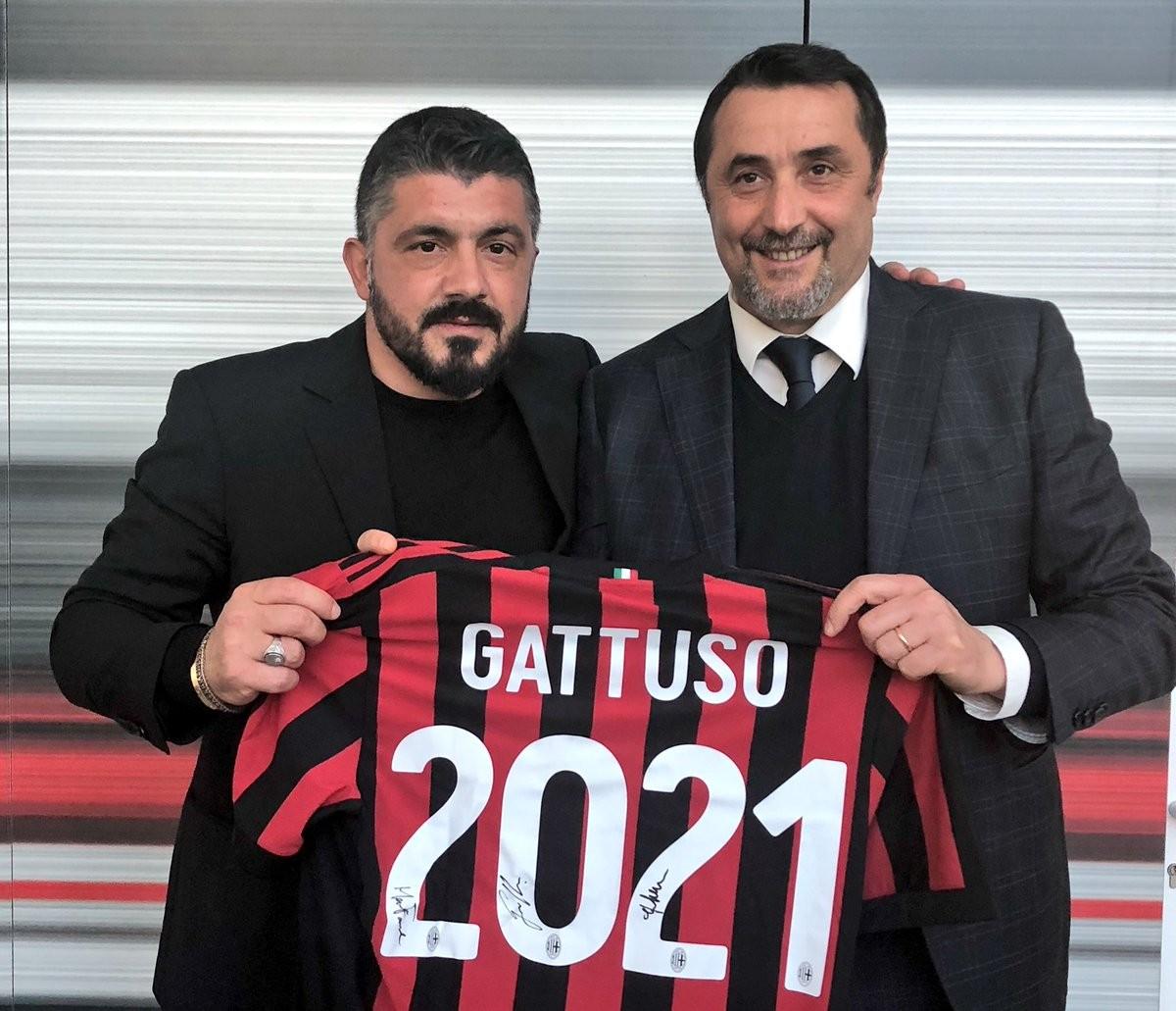 Milan, ora è ufficiale: Gattuso rinnova fino al 2021