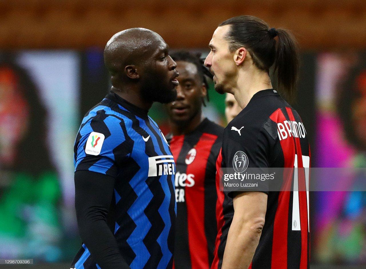 Inter Milan 2-1 AC Milan Coppa Italia: Zlatan sees red as Inter progress