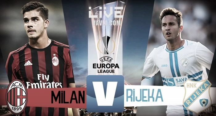 Milan-Rijeka in diretta, Europa League 2017/18 LIVE (3-2): INCREDIBILE CUTRONE! INCREDIBILE FINALE!