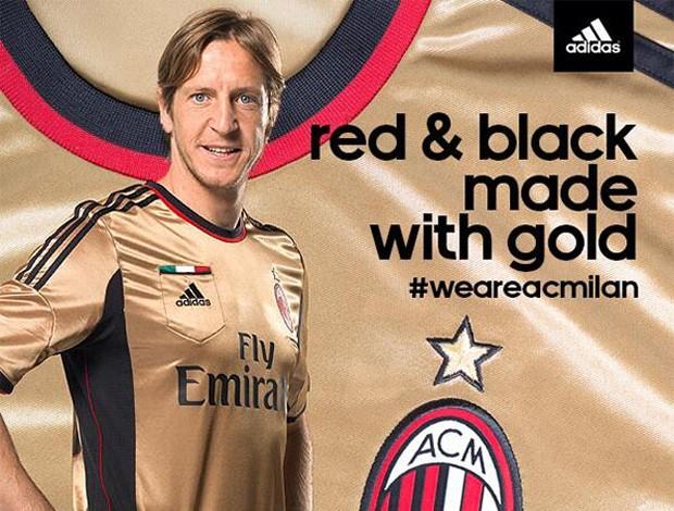 Contra a Roma, Milan apresentará uniforme dourado da próxima temporada