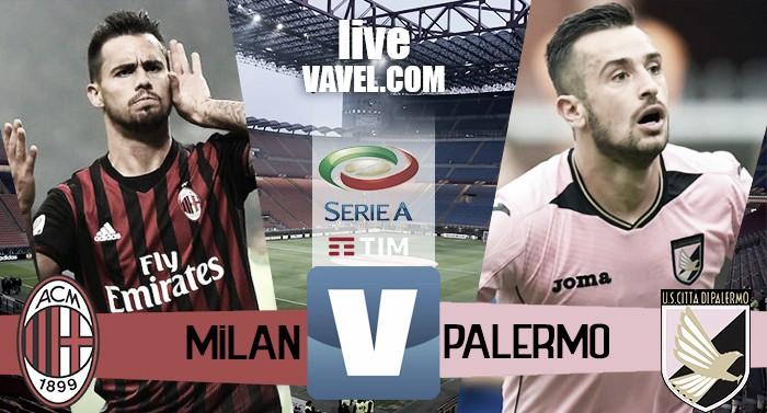 Risultato finale Milan - Palermo in Serie A 2016/17 (4-0): Tutto facile per i rossoneri
