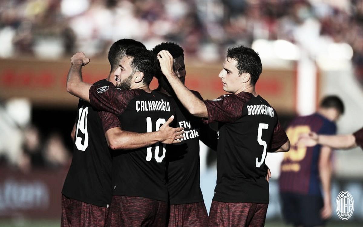 Milan vence Barcelona com gol no último minuto na International Champions Cup