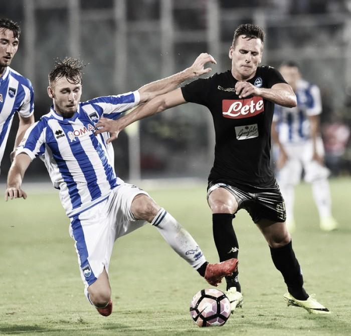 Pescara surpreende e segura Napoli na estreia da Serie A