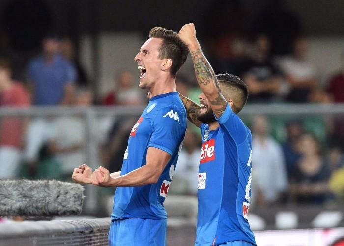 Serie A - Il solito Napoli, Verona battuto al Bentegodi (1-3)