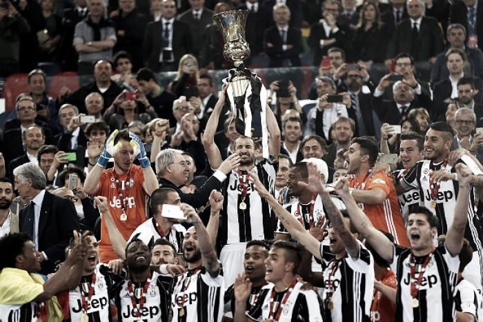 Juventus vence Milan na final da Copa Itália e confirma segunda doppietta consecutiva