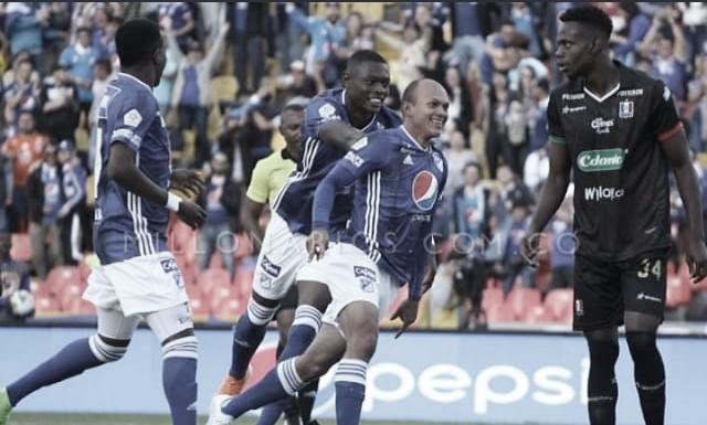 Primer triunfo de Millonarios en La Liga Aguila 2019-II