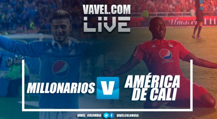 Resultado Millonarios vs América de Cali en Liga Águila 2017-I (3-0)