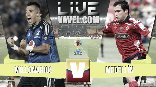 Resultado Millonarios - Medellín en la Liga Águila 2015-I (3-1)