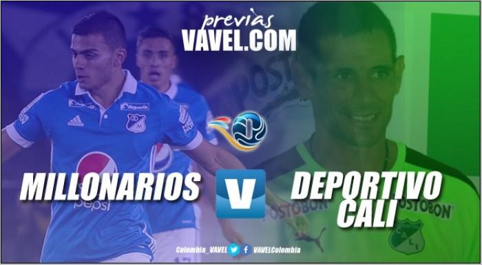 Previa Millonarios – Deportivo Cali: cierre de fase con clásico 'añejo'