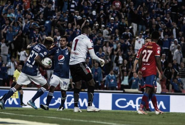 Puntuación jugadores Millonarios vs Deportivo Pasto