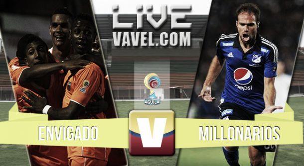 Resultado Envigado - Millonarios en la Liga Águila 2015 (0-0)
