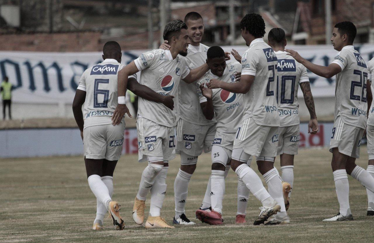 En un partidazo, Millonarios venció a Once Caldas en Zipaquirá