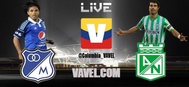 Millonarios vs Nacional, Liga Postobón en vivo online