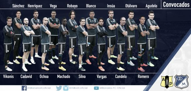 Millonarios anunció la lista de convocados para enfrentar a Alianza Petrolera