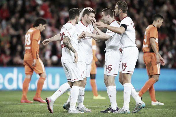 Brisbane Roar 1-2 Liverpool: Lallana and Milner help Reds continue positive pre-season