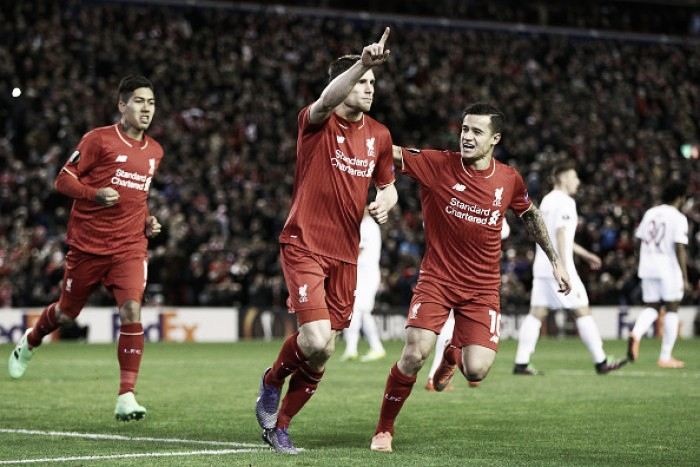 Liverpool (1) 1-0 (0) FC Augsburg: Reds strike early to book last 16 place