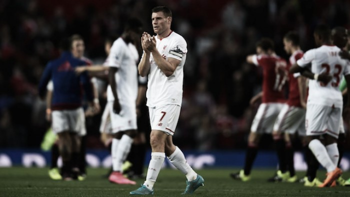 James Milner a doubt for Liverpool's heavyweight European clash against Manchester United